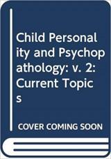 Child Personality and Psychopathology
