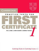 Cambridge Practice Tests for First Certificate 1 Student's Book