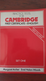 Practice tests for cambridge first certificate in english